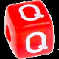 Cubo letras 10x10 mm acrilico colores - Letra Q