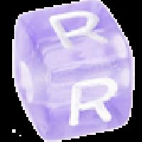 Cubo letras 10x10 mm acrilico colores - Letra R