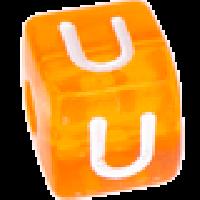 Cubo letras 10x10 mm acrilico colores - Letra U