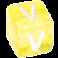 Cubo letras 10x10 mm acrilico colores - Letra V