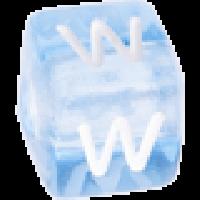 Cubo letras 10x10 mm acrilico colores - Letra W