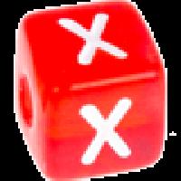 Cubo letras 10x10 mm acrilico colores - Letra X