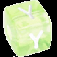 Cubo letras 10x10 mm acrilico colores - Letra Y
