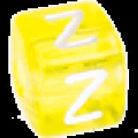 Cubo letras 10x10 mm acrilico colores - Letra Z