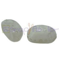 Resina oval  aguas blancas 22x12x11 mm- Color Blanco