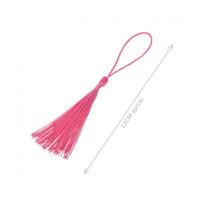 Pompon borla de hilo largo 12 cm COLOR ROSA