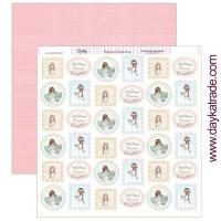 Papel Scrap doble cara 30x30 cm - Comunión Dayka niña 2019- SCP-301