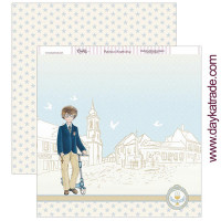 Papel Scrap doble cara 30x30 cm - Comunión Dayka niño 2019- SCP-304