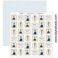 Papel Scrap doble cara 30x30 cm - Comunión Dayka niño 2019- SCP-313