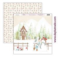 Una Navidad de Cuento -Papel Scrap doble cara 30x30cm Navidad 2021 - SCP-461