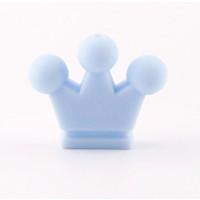 Figurita de silicona- Corona 32x28 mm- Color Azul bebe 18