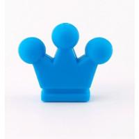 Figurita de silicona- Corona 32x28 mm- Color Azul celeste 19