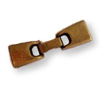 Cierre ZAMAK bronce  gancho 45x13 mm Interior 10x3 mm