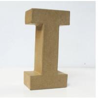 Letra I de carton 18x5.5 cm para decorar con tecnicas Scrap