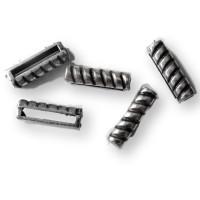 Barra pasador rayas ZAMAK plateado 17x5 mm, paso 13 mm