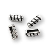 Barra pasador rayas ZAMAK plateado 13x5 mm, paso 10 mm