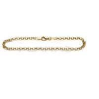 Pulsera dorada Plata de Ley Baño de oro - Eslabones rolo 3x1.5 mm - 21cm