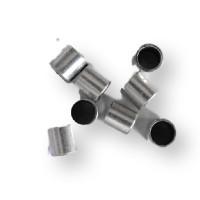 Entrepieza pasador tubo liso 5x5 mm para cuero de 4 mm