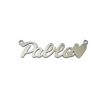 Collar plata de ley - Nombre personalizado con corazon  (POR ENCARGO)