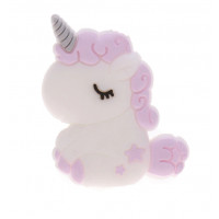 Unicornio bebe de silicona 32x24x7 mm- Color Lila