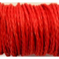 Cordón rojo cuero trenzado 3  mm ( 1 metro)