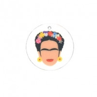 Frida - Colgante plexy moneda 25 mm