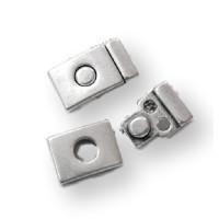 Cierre zamak boton magnetico 32x18 mm ( taladro 12x 2 mm)
