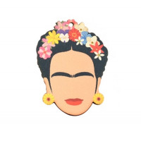 Frida- Colgante madera 54x41 mm