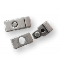 Cierre zamak boton magnetico 32x14 mm ( taladro 10x2 mm)
