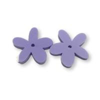 Plexy lila pastel - Colgante margarita  25 mm, int 1.2 mm
