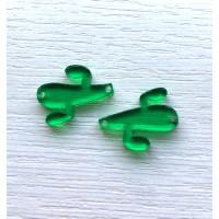 Plexy verde- Entrepieza cactus 23 mm, int 1.2 mm