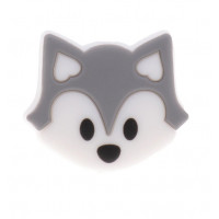 Zorrito de silicona 27x23x8 mm- Color Gris