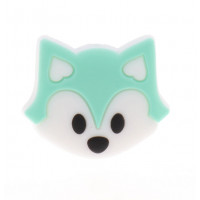Zorrito de silicona 27x23x8 mm- Color Menta