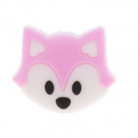 Zorrito de silicona 27x23x8 mm- Color Rosa