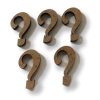 Letras madera DM adhesiva- Minusculas enlazadas - Signo Interrogacion