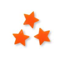 Plexy naranja- Colgante estrella 15 mm, int 1.2 mm