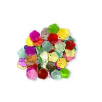 Colgante flor colores 13 mm Nacar ( 10 uds)