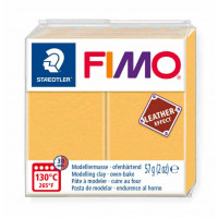 Fimo Soft Leather Effect 56g color 109 Saffron Yellow