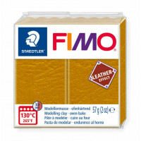 Fimo Soft Leather Effect 56g color 179 Ochre