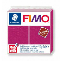 Fimo Soft Leather Effect 56g color 229 Raspberry