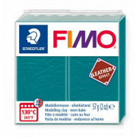 Fimo Soft Leather Effect 56g color 369 Green Lagoon