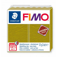 Fimo Soft Leather Effect 56g color 519 Olive Green