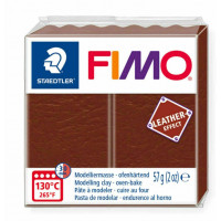 Fimo Soft Leather Effect 56g color 779 Nutty Brown