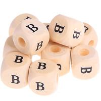 Cubo madera natural alfabeto 11x11 mm, letra B (calidad alemana)