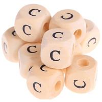 Cubo madera natural alfabeto 11x11 mm, letra C (calidad alemana)