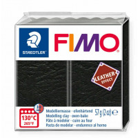 Fimo Soft Leather Effect 56g color 909 Black
