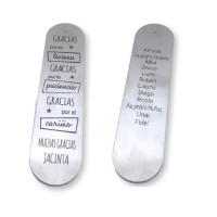 Marcapaginas profe -15.2x3.8 cm- Gracias por las lecciones (doble cara)