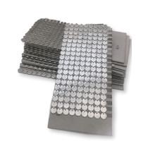 Lote 100 chapitas de acero grabadas con tu logo 10.5 mm