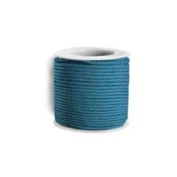 Cordon twisted 2 mm- Turquesa - 1 metro