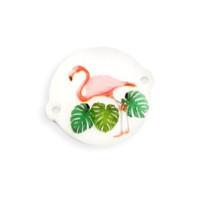 Entrepieza plexy redondo Flamingo - 22 mm